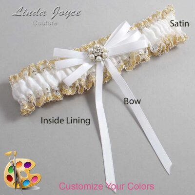 Couture Garters / Custom Wedding Garter / Customizable Wedding Garters / Personalized Wedding Garters / Denice #04-B11-M23 / Wedding Garters / Bridal Garter / Prom Garter / Linda Joyce Couture