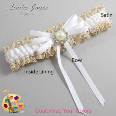Couture Garters / Custom Wedding Garter / Customizable Wedding Garters / Personalized Wedding Garters / Dolores #04-B11-M24 / Wedding Garters / Bridal Garter / Prom Garter / Linda Joyce Couture