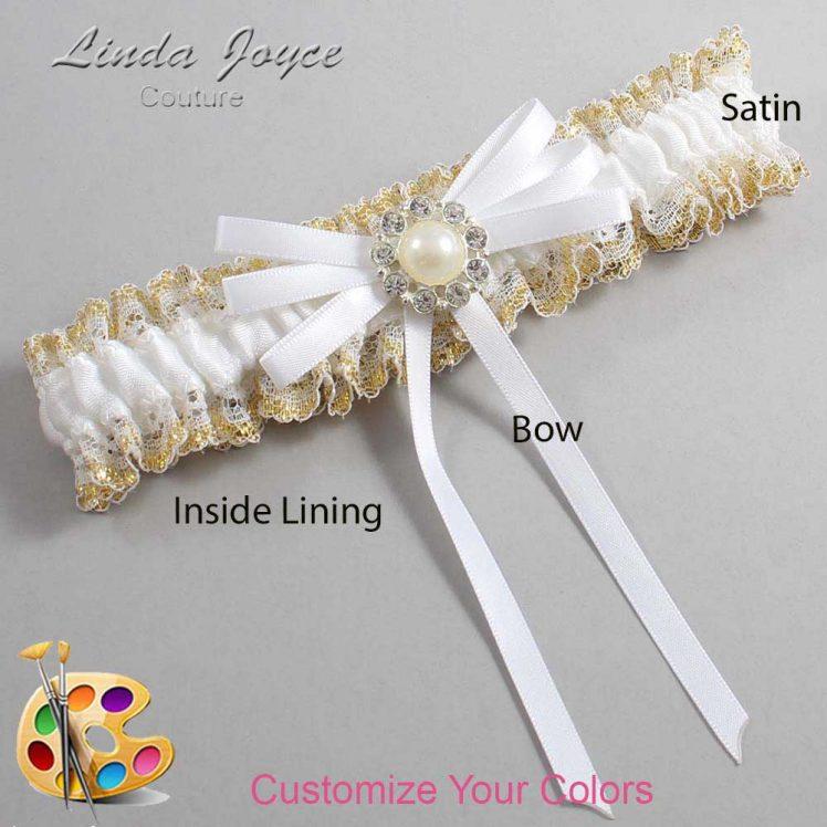 Couture Garters / Custom Wedding Garter / Customizable Wedding Garters / Personalized Wedding Garters / Dolores #04-B11-M24 / Wedding Garters / Bridal Garter / Prom Garter / Linda Joyce Couture