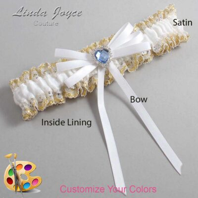 Couture Garters / Custom Wedding Garter / Customizable Wedding Garters / Personalized Wedding Garters / Dora #04-B11-M25 / Wedding Garters / Bridal Garter / Prom Garter / Linda Joyce Couture
