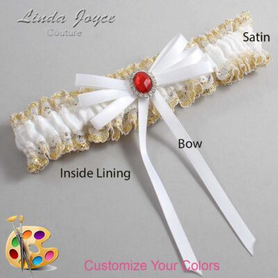 Couture Garters / Custom Wedding Garter / Customizable Wedding Garters / Personalized Wedding Garters / Elissa #04-B11-M26 / Wedding Garters / Bridal Garter / Prom Garter / Linda Joyce Couture
