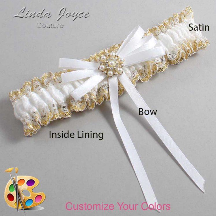 Couture Garters / Custom Wedding Garter / Customizable Wedding Garters / Personalized Wedding Garters / Ellie #04-B11-M27 / Wedding Garters / Bridal Garter / Prom Garter / Linda Joyce Couture
