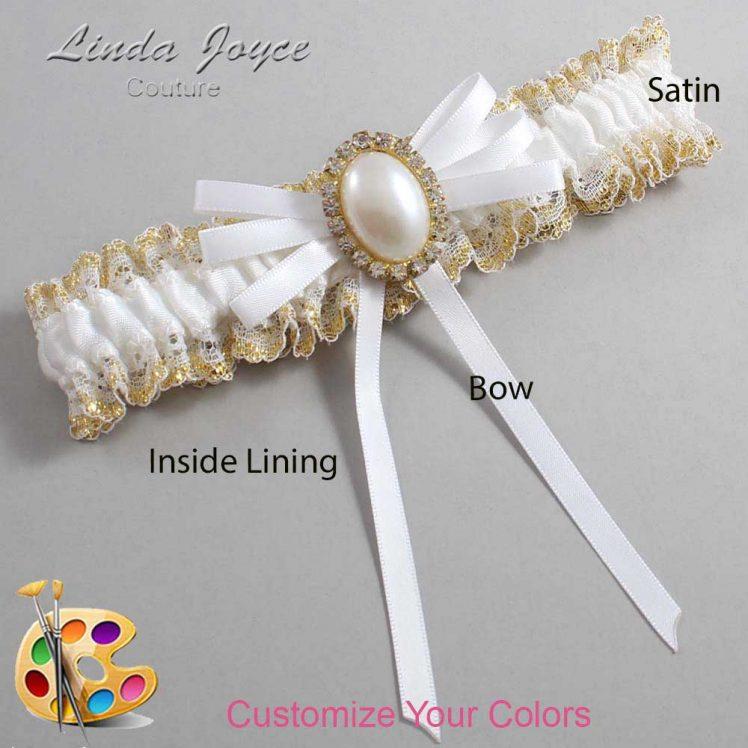 Couture Garters / Custom Wedding Garter / Customizable Wedding Garters / Personalized Wedding Garters / Felina #04-B11-M29 / Wedding Garters / Bridal Garter / Prom Garter / Linda Joyce Couture