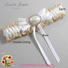 Customizable Wedding Garter / Emma #04-B11-M30-Silver