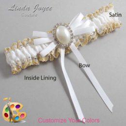 Customizable Wedding Garter / Felina #04-B11-M31-Silver
