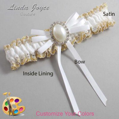 Couture Garters / Custom Wedding Garter / Customizable Wedding Garters / Personalized Wedding Garters / Felina #04-B11-M31 / Wedding Garters / Bridal Garter / Prom Garter / Linda Joyce Couture