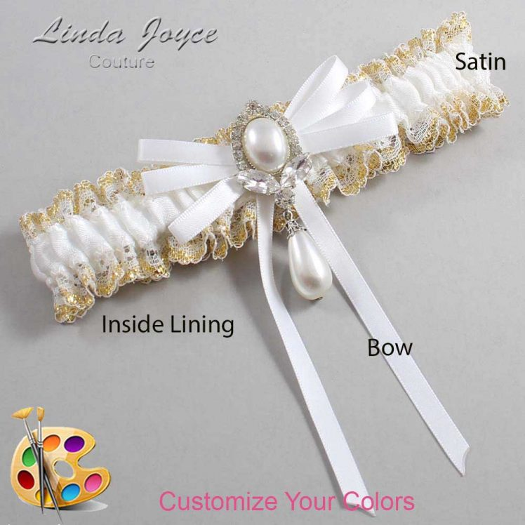 Couture Garters / Custom Wedding Garter / Customizable Wedding Garters / Personalized Wedding Garters / Felicia #04-B11-M32 / Wedding Garters / Bridal Garter / Prom Garter / Linda Joyce Couture