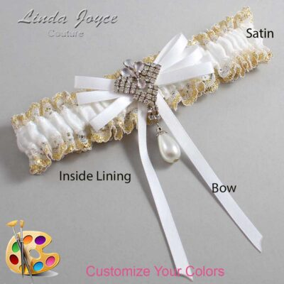 Couture Garters / Custom Wedding Garter / Customizable Wedding Garters / Personalized Wedding Garters / FiFi #04-B11-M33 / Wedding Garters / Bridal Garter / Prom Garter / Linda Joyce Couture