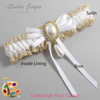 Couture Garters / Custom Wedding Garter / Customizable Wedding Garters / Personalized Wedding Garters / Florence #04-B11-M34 / Wedding Garters / Bridal Garter / Prom Garter / Linda Joyce Couture