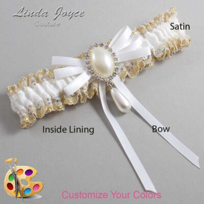 Couture Garters / Custom Wedding Garter / Customizable Wedding Garters / Personalized Wedding Garters / Florence #04-B11-M35 / Wedding Garters / Bridal Garter / Prom Garter / Linda Joyce Couture