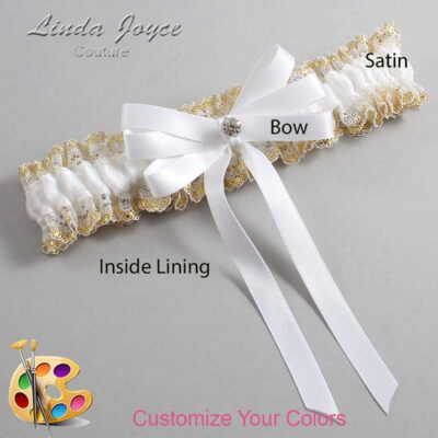 Couture Garters / Custom Wedding Garter / Customizable Wedding Garters / Personalized Wedding Garters / Venessa #04-B12-M04 / Wedding Garters / Bridal Garter / Prom Garter / Linda Joyce Couture