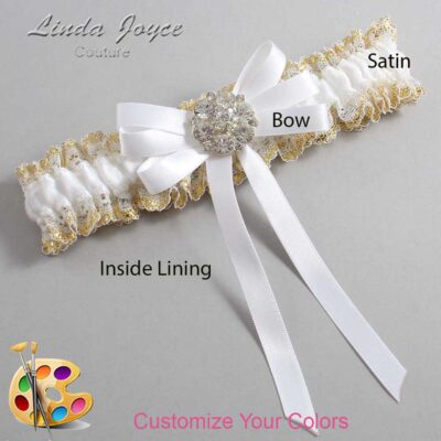 Couture Garters / Custom Wedding Garter / Customizable Wedding Garters / Personalized Wedding Garters / Ashton #04-B12-M11 / Wedding Garters / Bridal Garter / Prom Garter / Linda Joyce Couture
