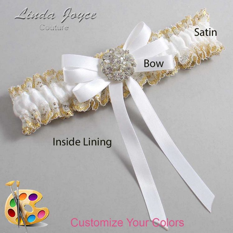 Couture Garters / Custom Wedding Garter / Customizable Wedding Garters / Personalized Wedding Garters / Ashton #04-B12-M11 / Wedding Garters / Bridal Garter / Prom Garter / Linda Joyce Couture