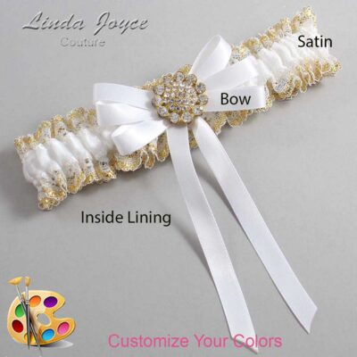Couture Garters / Custom Wedding Garter / Customizable Wedding Garters / Personalized Wedding Garters / Brett #04-B12-M12 / Wedding Garters / Bridal Garter / Prom Garter / Linda Joyce Couture