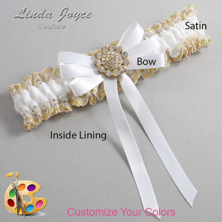 Couture Garters / Custom Wedding Garter / Customizable Wedding Garters / Personalized Wedding Garters / Brett #04-B12-M12 / Wedding Garters / Bridal Garter / Prom Garter / Linda Joyce Couture