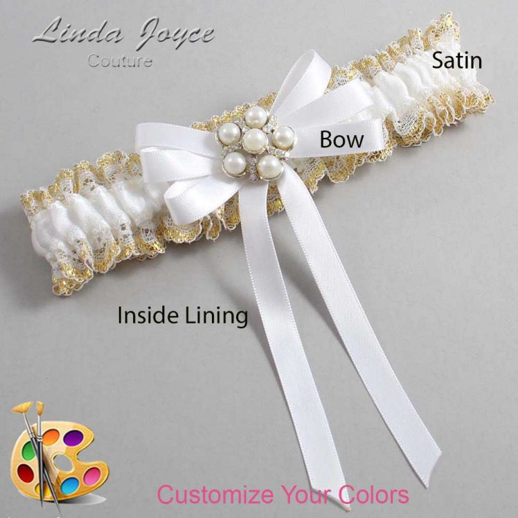 Couture Garters / Custom Wedding Garter / Customizable Wedding Garters / Personalized Wedding Garters / Carmilla #04-B12-M13 / Wedding Garters / Bridal Garter / Prom Garter / Linda Joyce Couture