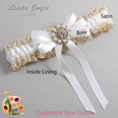 Couture Garters / Custom Wedding Garter / Customizable Wedding Garters / Personalized Wedding Garters / Robin #04-B12-M14 / Wedding Garters / Bridal Garter / Prom Garter / Linda Joyce Couture