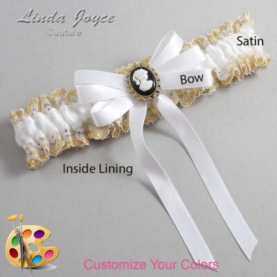 Couture Garters / Custom Wedding Garter / Customizable Wedding Garters / Personalized Wedding Garters / Sally #04-B12-M15 / Wedding Garters / Bridal Garter / Prom Garter / Linda Joyce Couture