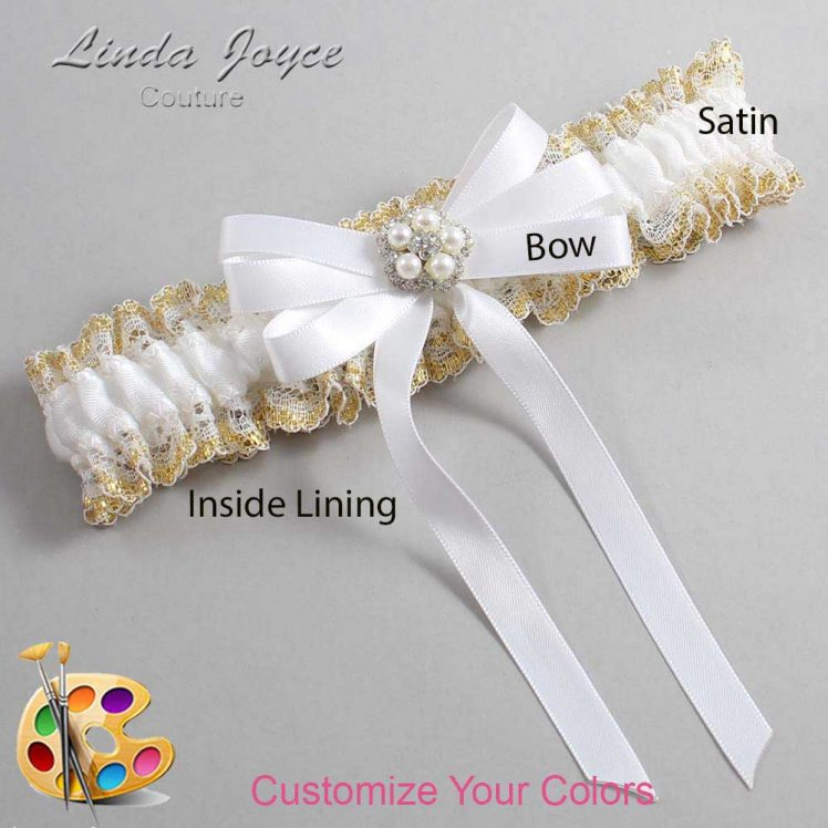 Couture Garters / Custom Wedding Garter / Customizable Wedding Garters / Personalized Wedding Garters / Candice #04-B12-M20 / Wedding Garters / Bridal Garter / Prom Garter / Linda Joyce Couture