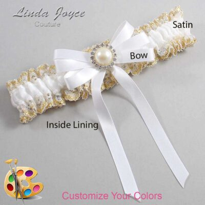 Couture Garters / Custom Wedding Garter / Customizable Wedding Garters / Personalized Wedding Garters / Carol #04-B12-M22 / Wedding Garters / Bridal Garter / Prom Garter / Linda Joyce Couture