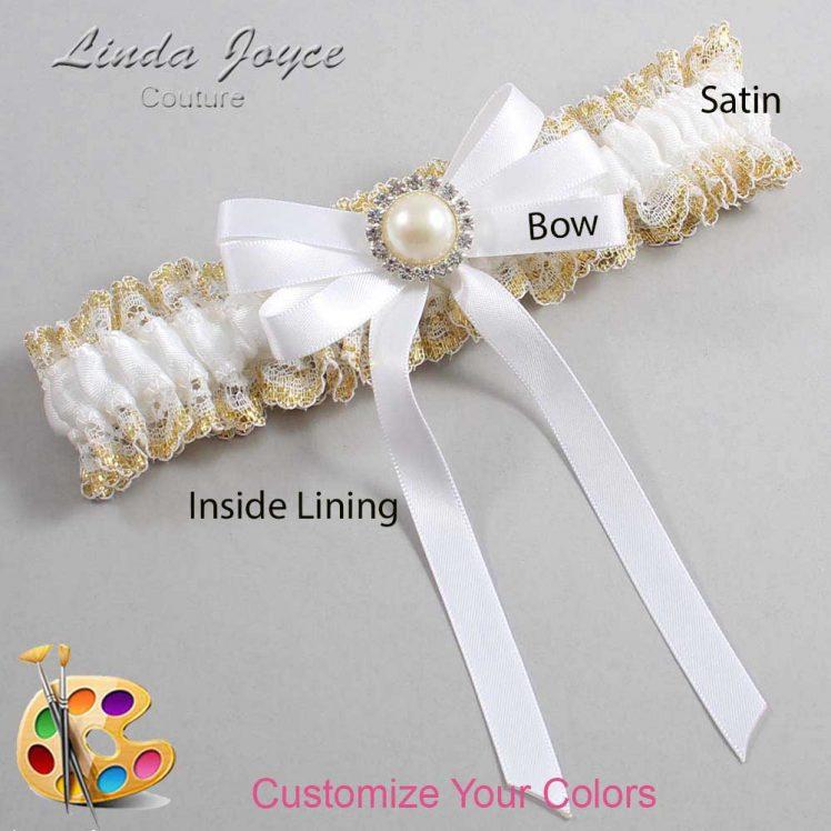 Couture Garters / Custom Wedding Garter / Customizable Wedding Garters / Personalized Wedding Garters / Carol #04-B12-M22 / Wedding Garters / Bridal Garter / Prom Garter / Linda Joyce Couture