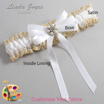 Couture Garters / Custom Wedding Garter / Customizable Wedding Garters / Personalized Wedding Garters / Thelma #04-B12-M23 / Wedding Garters / Bridal Garter / Prom Garter / Linda Joyce Couture