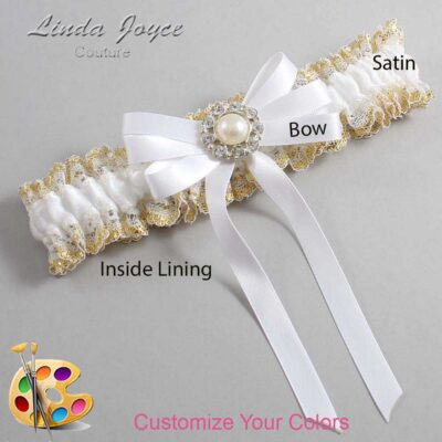 Couture Garters / Custom Wedding Garter / Customizable Wedding Garters / Personalized Wedding Garters / Wanda #04-B12-M24 / Wedding Garters / Bridal Garter / Prom Garter / Linda Joyce Couture