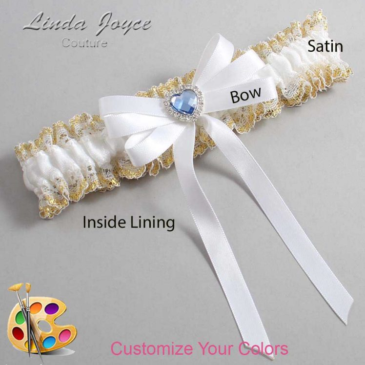Couture Garters / Custom Wedding Garter / Customizable Wedding Garters / Personalized Wedding Garters / Winnie #04-B12-M25 / Wedding Garters / Bridal Garter / Prom Garter / Linda Joyce Couture