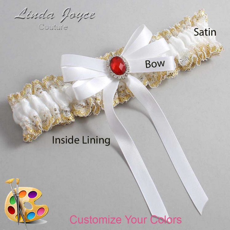 Couture Garters / Custom Wedding Garter / Customizable Wedding Garters / Personalized Wedding Garters / Roxanne #04-B12-M26 / Wedding Garters / Bridal Garter / Prom Garter / Linda Joyce Couture