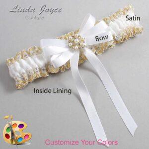 Couture Garters / Custom Wedding Garter / Customizable Wedding Garters / Personalized Wedding Garters / Savanah #04-B12-M27 / Wedding Garters / Bridal Garter / Prom Garter / Linda Joyce Couture