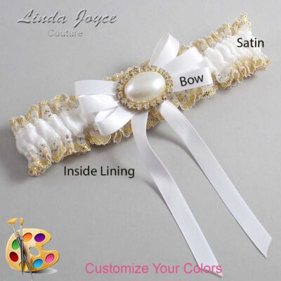 Couture Garters / Custom Wedding Garter / Customizable Wedding Garters / Personalized Wedding Garters / Velma #04-B12-M28 / Wedding Garters / Bridal Garter / Prom Garter / Linda Joyce Couture