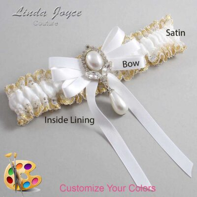 Couture Garters / Custom Wedding Garter / Customizable Wedding Garters / Personalized Wedding Garters / Patsy #04-B12-M32 / Wedding Garters / Bridal Garter / Prom Garter / Linda Joyce Couture