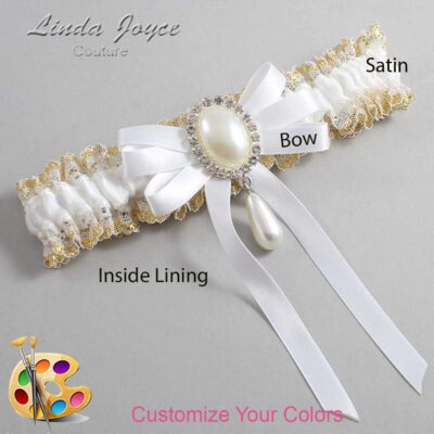 Couture Garters / Custom Wedding Garter / Customizable Wedding Garters / Personalized Wedding Garters / Yvonne #04-B12-M35 / Wedding Garters / Bridal Garter / Prom Garter / Linda Joyce Couture