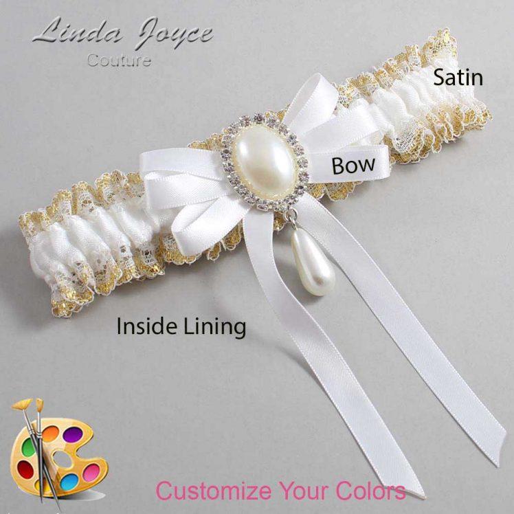 Couture Garters / Custom Wedding Garter / Customizable Wedding Garters / Personalized Wedding Garters / Yvonne #04-B12-M35 / Wedding Garters / Bridal Garter / Prom Garter / Linda Joyce Couture