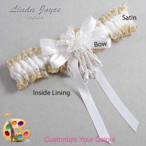 Couture Garters / Custom Wedding Garter / Customizable Wedding Garters / Personalized Wedding Garters / Paula #04-B12-M38 / Wedding Garters / Bridal Garter / Prom Garter / Linda Joyce Couture