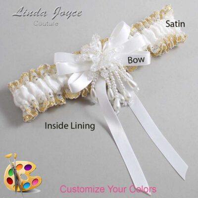 Couture Garters / Custom Wedding Garter / Customizable Wedding Garters / Personalized Wedding Garters / Paula #04-B12-M38 / Wedding Garters / Bridal Garter / Prom Garter / Linda Joyce Couture