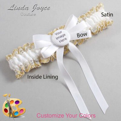 Customizable Wedding Garter / US-Military Custom Button #04-B12-M44