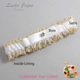 Customizable Wedding Garter / Lana #04-B20-M03-Gold