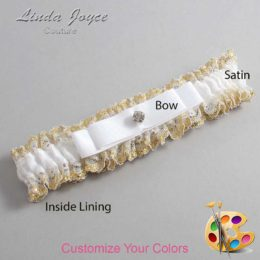 Customizable Wedding Garter / Lana #04-B20-M04-Silver