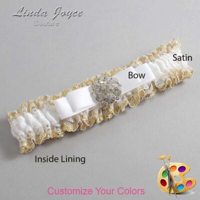 Couture Garters / Custom Wedding Garter / Customizable Wedding Garters / Personalized Wedding Garters / Alexis #04-B20-M11 / Wedding Garters / Bridal Garter / Prom Garter / Linda Joyce Couture