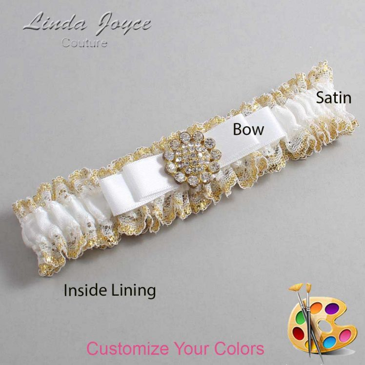 Couture Garters / Custom Wedding Garter / Customizable Wedding Garters / Personalized Wedding Garters / Bella #04-B20-M12 / Wedding Garters / Bridal Garter / Prom Garter / Linda Joyce Couture
