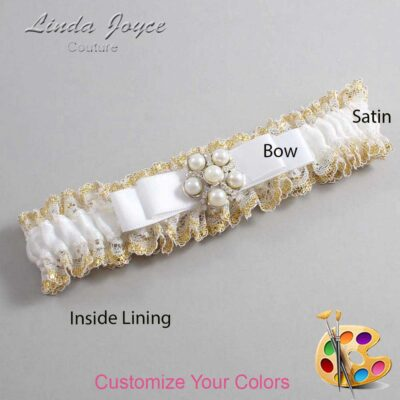 Couture Garters / Custom Wedding Garter / Customizable Wedding Garters / Personalized Wedding Garters / Haley #04-B20-M13 / Wedding Garters / Bridal Garter / Prom Garter / Linda Joyce Couture