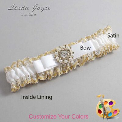 Couture Garters / Custom Wedding Garter / Customizable Wedding Garters / Personalized Wedding Garters / Kelsea #04-B20-M14 / Wedding Garters / Bridal Garter / Prom Garter / Linda Joyce Couture
