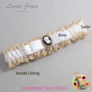 Couture Garters / Custom Wedding Garter / Customizable Wedding Garters / Personalized Wedding Garters / Avery #04-B20-M15 / Wedding Garters / Bridal Garter / Prom Garter / Linda Joyce Couture