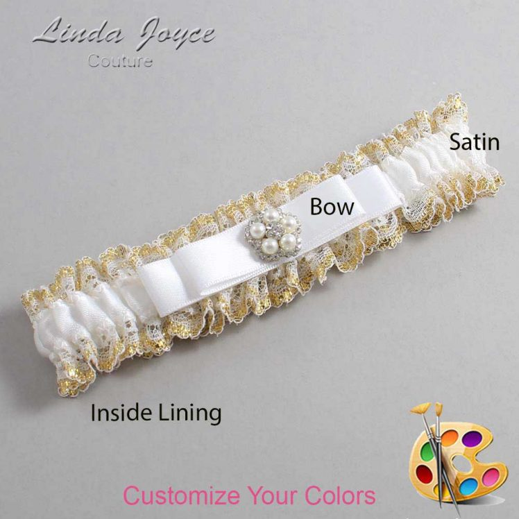 Couture Garters / Custom Wedding Garter / Customizable Wedding Garters / Personalized Wedding Garters / Audrey #04-B20-M20 / Wedding Garters / Bridal Garter / Prom Garter / Linda Joyce Couture