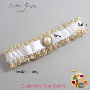Couture Garters / Custom Wedding Garter / Customizable Wedding Garters / Personalized Wedding Garters / Jade #04-B20-M21 / Wedding Garters / Bridal Garter / Prom Garter / Linda Joyce Couture