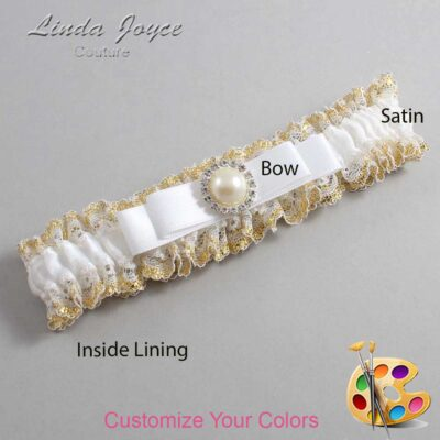 Couture Garters / Custom Wedding Garter / Customizable Wedding Garters / Personalized Wedding Garters / Jade #04-B20-M22 / Wedding Garters / Bridal Garter / Prom Garter / Linda Joyce Couture