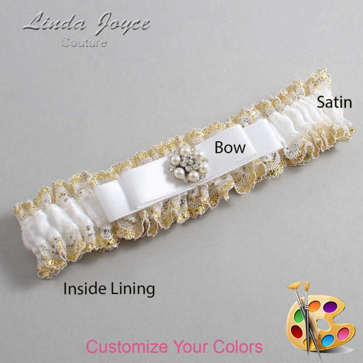 Couture Garters / Custom Wedding Garter / Customizable Wedding Garters / Personalized Wedding Garters / Frances #04-B20-M23 / Wedding Garters / Bridal Garter / Prom Garter / Linda Joyce Couture