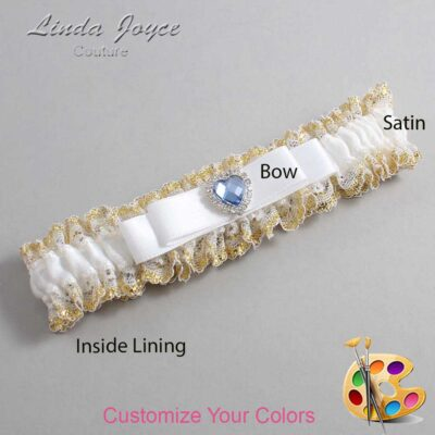 Couture Garters / Custom Wedding Garter / Customizable Wedding Garters / Personalized Wedding Garters / Louann #04-B20-M25 / Wedding Garters / Bridal Garter / Prom Garter / Linda Joyce Couture