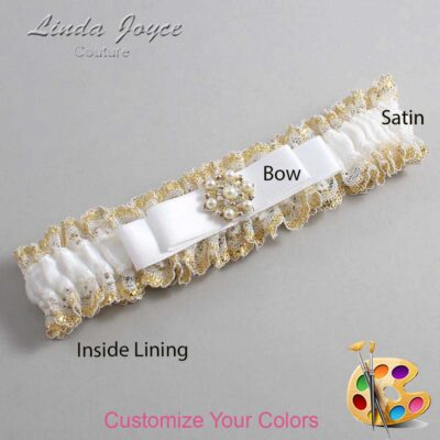 Couture Garters / Custom Wedding Garter / Customizable Wedding Garters / Personalized Wedding Garters / Becky #04-B20-M27 / Wedding Garters / Bridal Garter / Prom Garter / Linda Joyce Couture